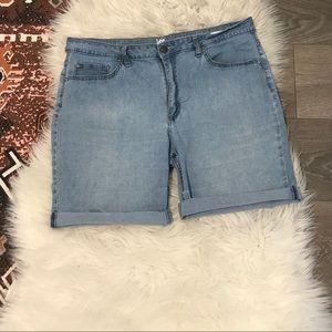 Lee Midrise Bermuda Denim Shorts